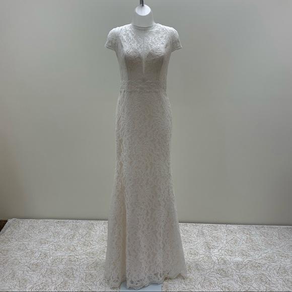 Blue by Enzoani Dresses & Skirts - NWT Cap Sleeve, High Neck, Open Back Wedding Dress
